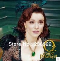 DHL za darmo!!! 100 sztuk/partia Hurtownie Moda Biżuteria Złota Urok TempleRunOz Zielony Klejnot Wisiorek Naszyjnik Dla Kobiet