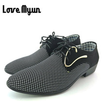 Cheapest mens dress shoes Pointed toe mens Oxfords wedding business white blue shoes lace up mens fashion flats 46  47AB-45