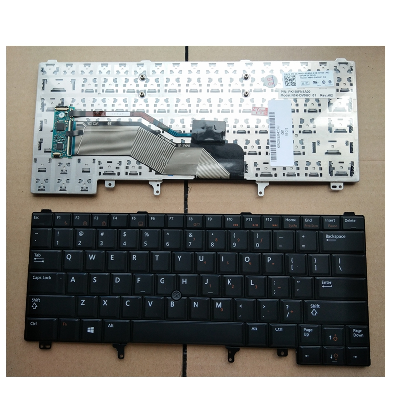 US With pointing stick Black English laptop keyboard For DELL E6420 E5420 E5430 E6220 E6320 E6330 E6420 E6430 without Backlight золотое кольцо ювелирное изделие 01k673574l