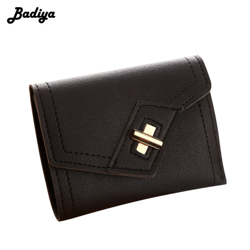 Ladies Short New Fashion Cute Women Wallets Hasp Solid Mini PU Leather Cash Money Bag with Card Holders Feminina Carteira Sac fashion wallet women simple short wallets hasp coin purse credit card holders handbag carteira feminina portefeuille femme