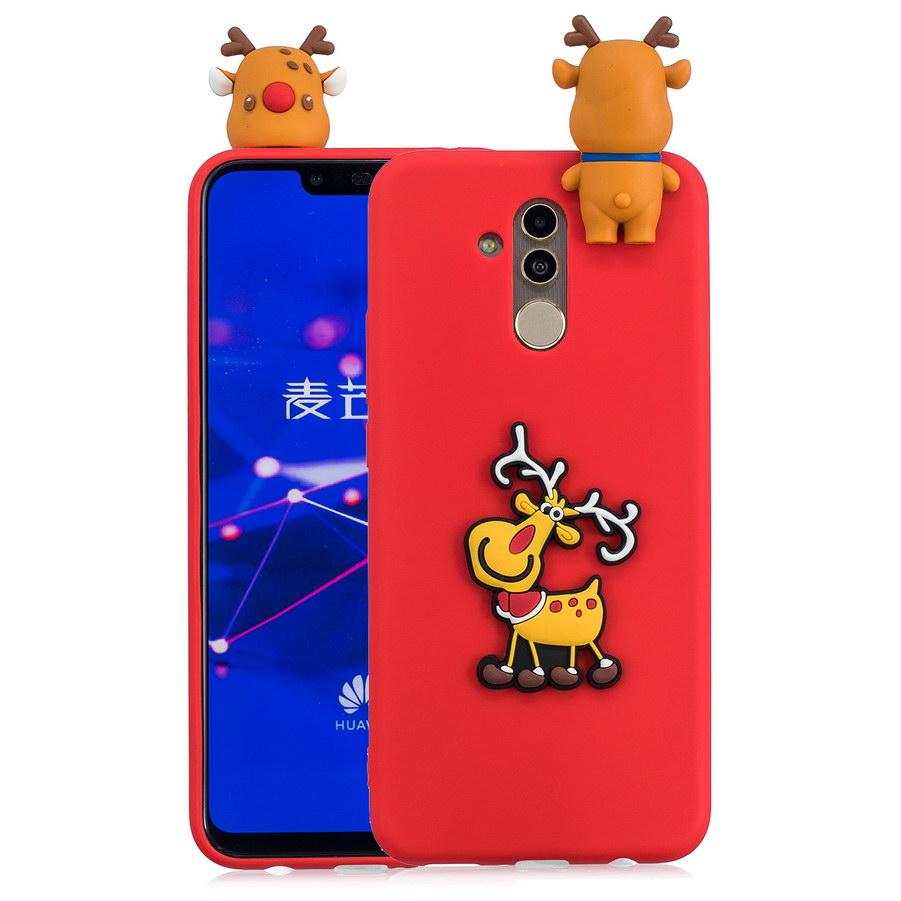 3D Christmas Tree Phone Case For Huawei Mate 20 Lite Cute Cartoon Deer Xmas Santa Claus Soft TPU For Huawei Mate20 Lite Cover