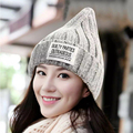 Puntiagudo gorro de Punto de lana sombrero de las mujeres sombreros de invierno skullies Color Sólido Hip-Hop turbante Del Casquillo de chicas gorros mujeres gorros de hueso tapas