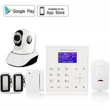 QOLELARM menú Polaco wifi alarma de su casa gsm seguridad en el hogar sistemas con wi-fi de la cámara IP 720 p HD APP control remoto antirrobo alarma