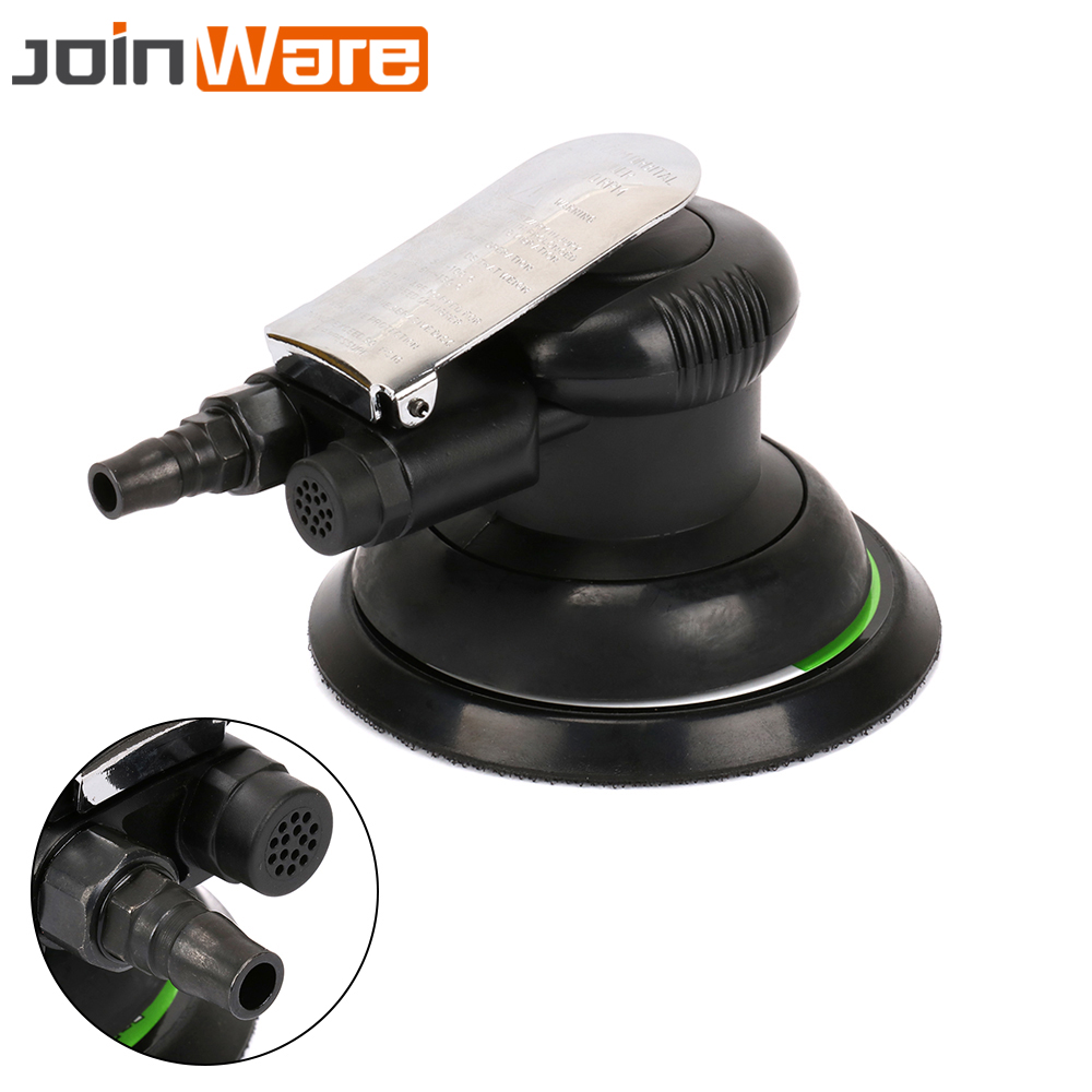 5 Pneumatic Round Air Random Orbital Palm Sander Polishing Polisher Tool 125mm For Car Auto Body
