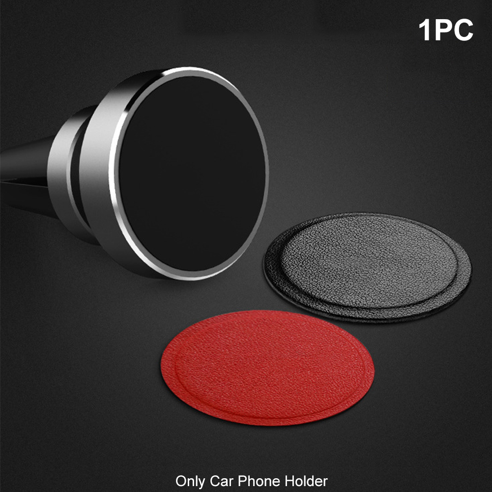 Magnetic Disk Anti-slip Stand Back Sticker Anti-falling Tablets PU Leather Auto Smooth Car Phone Holder Metal Plate