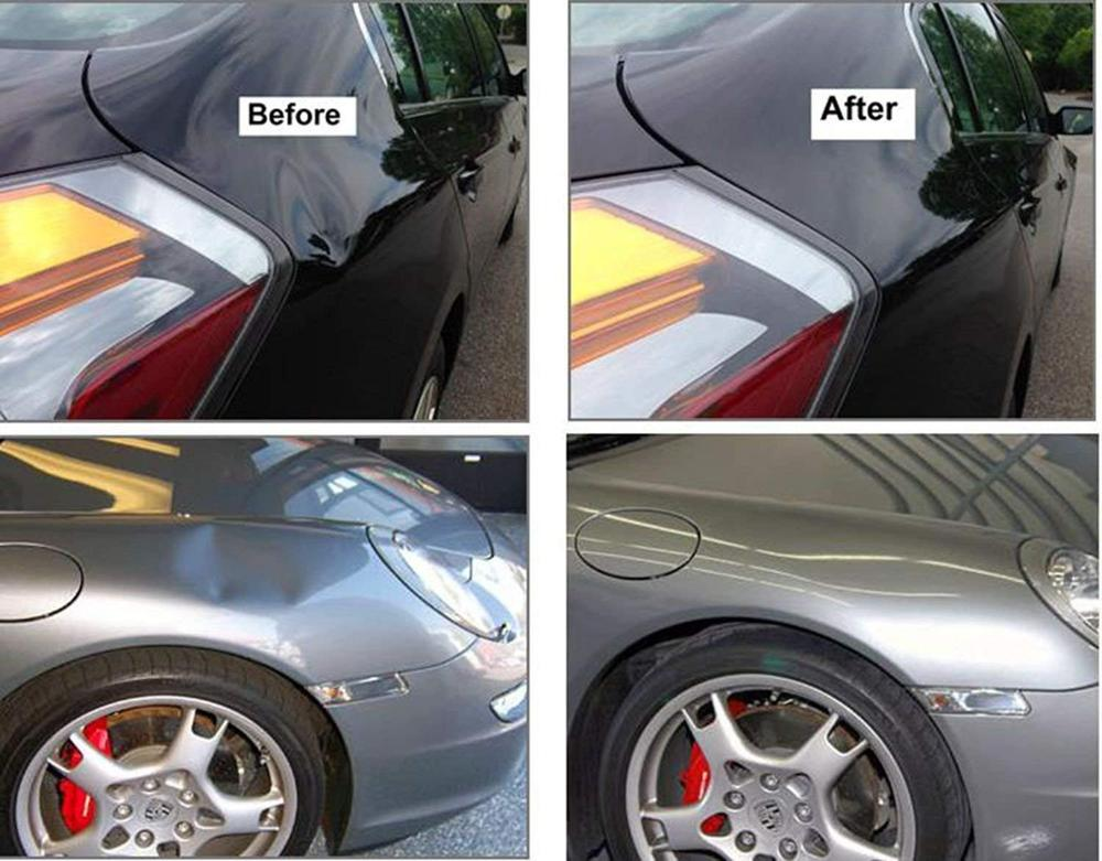 Auto Car Body Dent Repair Tools without Paint Silde Hammer T Bar Hail Damage Remaol Kit with 4Pcs Glue Puller Tabs, Pops