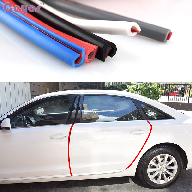 Ceyes 5/8M Universal Car-Styling Edge Guard Sealing Decoration Mouldings Door Scratch Strip Protector Accessories Car Styling