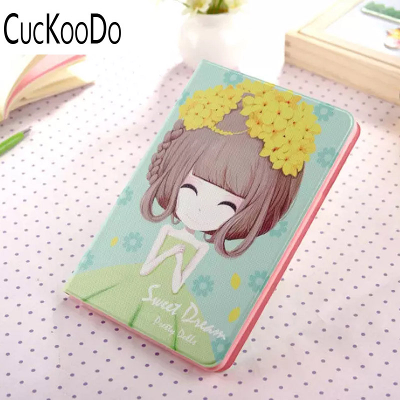 CucKooDo 200Pcs/lot PU Leather Interesting Extreme Durable and Protective Note Case for iPad Mini 4 with Card Slots