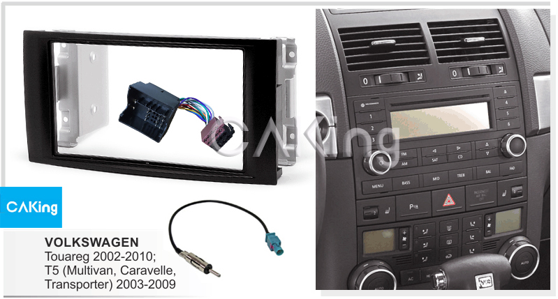 VW Transporter T5.1 2010 On Double DIN Stereo Radio Fascia Facia /& Wiring Kit