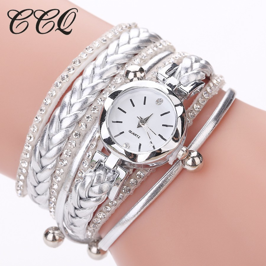 CCQ Brand Fashion Women Dress Handmade Bracelet Watch Luxury Casual Female Jewelry Clock Watch Drop Shipping