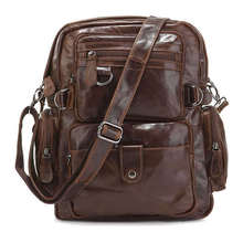 Fast Shipping Cowboy Genuine Leather Backpacks Travel Bags Men  # 7042Q