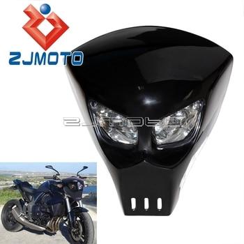 Predator Mask Style Custom Motorcycle Streetfighter Headlight Universal Light Fairing GSXR BANDIT 400 SV SV1000S SV650S
