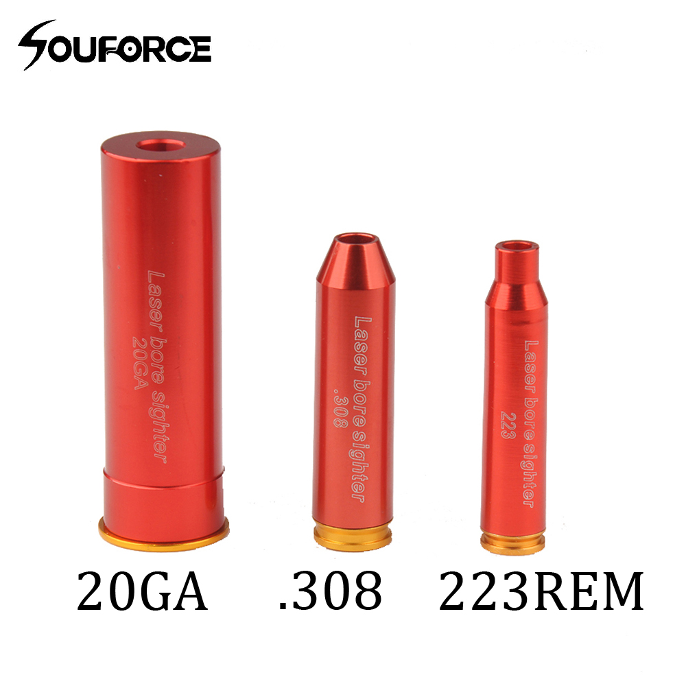 Tactical CAL.223/20GA/.308 Red Dot Bore Sight BoreSighter Caliber Cartridge Laser Pointer Sight Collimator Hunting