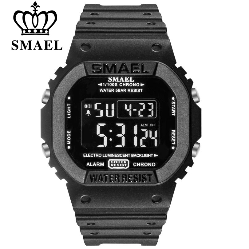 SMAEL Digital Watch Men Sports Watches LED Military Army Camouflage Wrist Watch For Boy Waterproof Top Brand Student Stopwatch