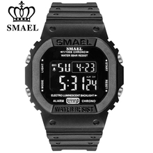 SMAEL Digital Watch Men Sports Watches LED Military Army Camouflage Wrist Watch For Boy Waterproof Top Brand Student Stopwatch цена и фото