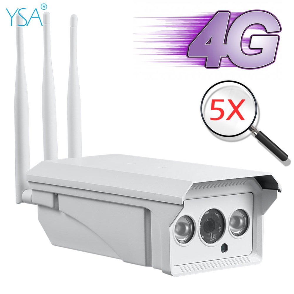 YSA 3G 4G 1080P 960P HD Bullet IP Camera Wireless WI-FI GSM SIM Card 5X Optical Zoom Outdoor Waterproof Security CCTV P2P Camera ysa 3g 4g wireless ptz dome ip camera outdoor 1080p hd 5x zoom cctv security video network surveillance security ip camera wifi