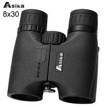 8×30 Jumelles Asika Compact Jumelles Étanches Télescope Bak4 Prisme Optique Camping Chasse Scopes Courroie De Cou Bionoculars