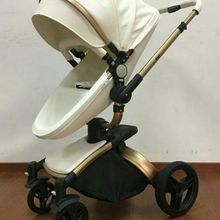 High View PU Leather Jogging Baby Stroller Travel Baby Carri
