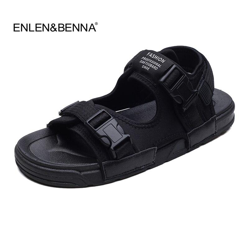 Fashion Sandals Men 2018 Vintage Rome Style Summer Beach Breathable Casual Shoes Solid Men Sandals 3 Colors Size 39-44 Sandalias