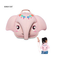 Kids School Backpack 3D Anti lost Kids Baby Bag Cute Animal Children Elephant Backpack Ultralight Kindergarten School SnacksBag