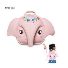 Kids School Backpack 3D Anti-lost Baby Bag Cute Animal Children Elephant Ultralight Kindergarten SnacksBag