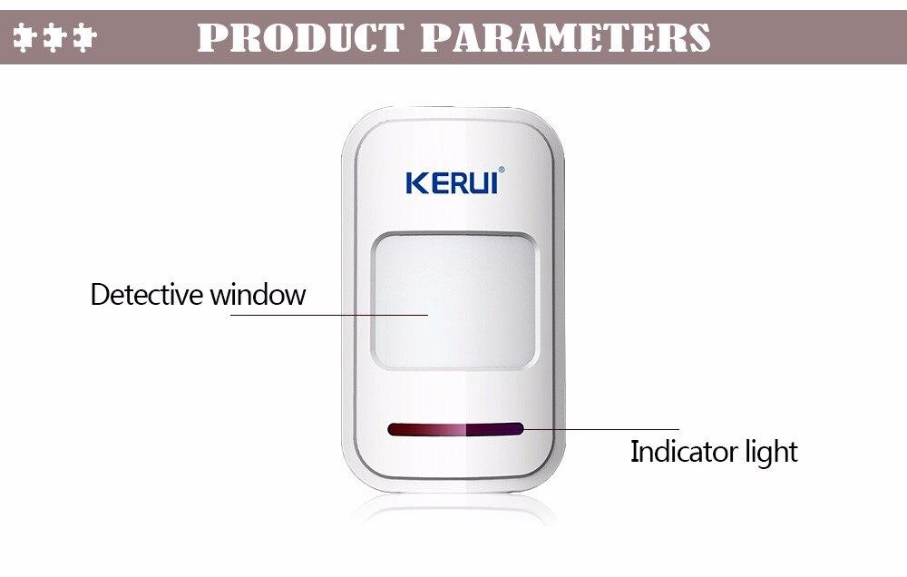 Fio Detector PIR Detector de Movimento Para