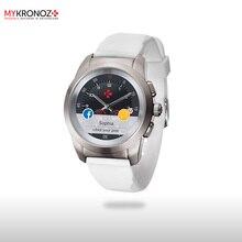 Смарт часы гибридные ZeTime Original Regular цвет матовое серебро/белый
