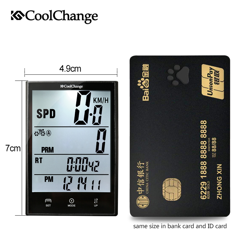 CoolChange Bike Computer 2 7 39 39 Large Screen Waterproof Wired Wireless Bicycle Computer Cycling Speedometer Measurable temperature in Bicycle Computer from Sports amp Entertainment