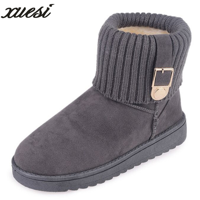 XUESI Snow Boots Winter Ankle Boots Women Shoes 2018 Fashion Fur Female Winter Warm Platform Shoes For Woman Mujer Bottes