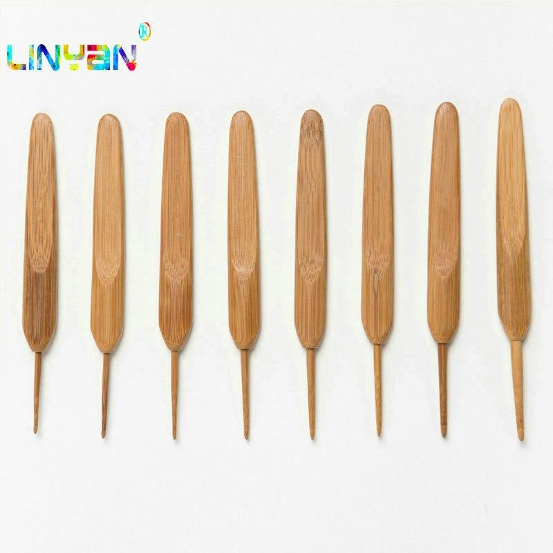 Metal Aluminio Plástico Ganchos de ganchillo agujas de tejer de bambú tejido Hilo Conjunto caliente