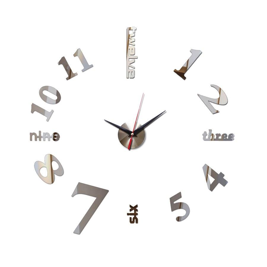 Grosse Horloge Fer Forgé horloge murale aucun clic sur le salon horloge murale