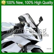 Light Smoke Windscreen For DUCATI 848 1098 1198 07-11 848S 1098S 1198S 848R 2007 2008 2009 2010 2011 #01 Windshield Screen