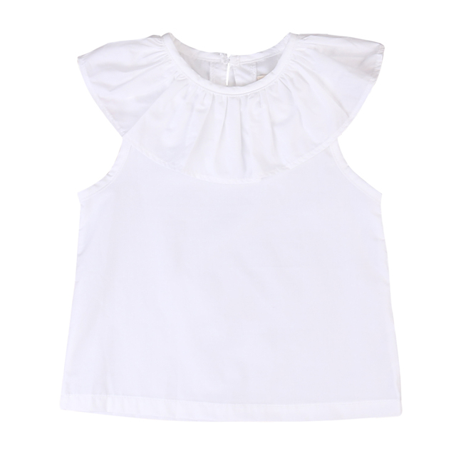 18deed722 2017 Bobo Choses bebé recién nacido niños niñas camisa blanca blusa Casual  volante cuello Tops niños