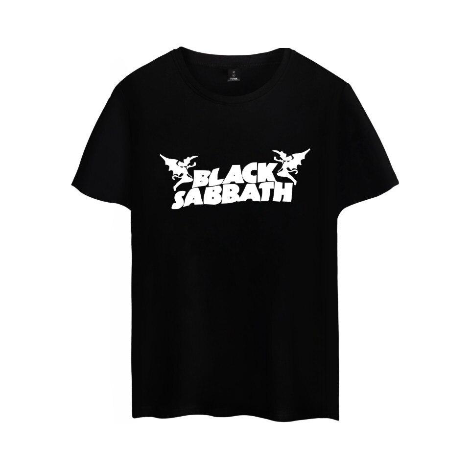 Heavy Metal Music Rock Band Black Sabbath Tshirt Pop CLASSIC METAL Music band Black Sabbath T-shirt Summer Tee Plus Size