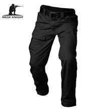 Mege מותג טקטי גברים של Ripstop מכנסיים צבאי מזדמן מטען SWAT Combat בגדי ארבע עונות מכנסיים עם כיסים רב