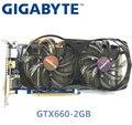 Usado gigabyte nvidia gpu gtx 660 2g placa de vídeo gráfica dupla porta hdmi dvi apoio lol pubg csgo