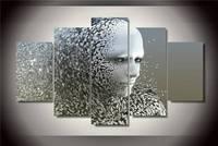 Hd مطبوعة جسم الإنسان رمادي تأثير الطباعة المشارك صورة قماش اللوحة قماش طباعة ديكور غرفة شحن مجاني/Ny-3039 الحجم 1 لا