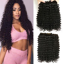 Indian Deep Curly Hair Bundles Yavida 100% Human Virgin Hair Weave Bundles Weave Natural Color Non Remy Hair Extensions(China)