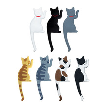 1Pcs Silicone Cartoon Animal Cute Cat Fridge Magnets Whiteboard Sticker Refrigerator Kids Gifts Home Decoration Hook