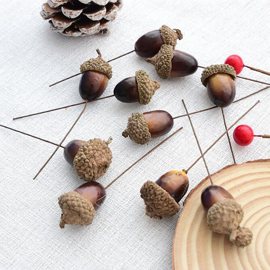 10pcs Bag Artificial Foam Christmas Pine Cone Wedding Decorations Birthday Party For Kids Bachelorette Party Ramadan Decorations in Party DIY Decorations from Home Garden