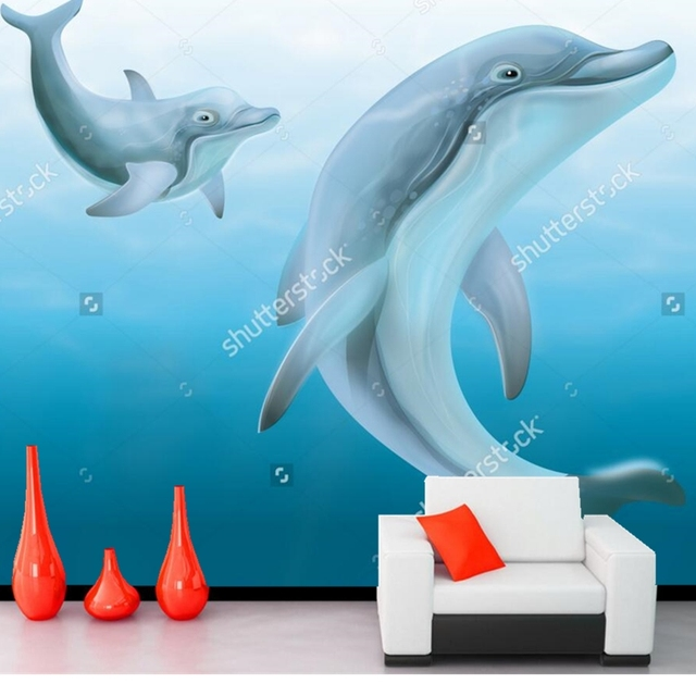 Dolphin wallpaperdolphins swimming in the ocean3D children