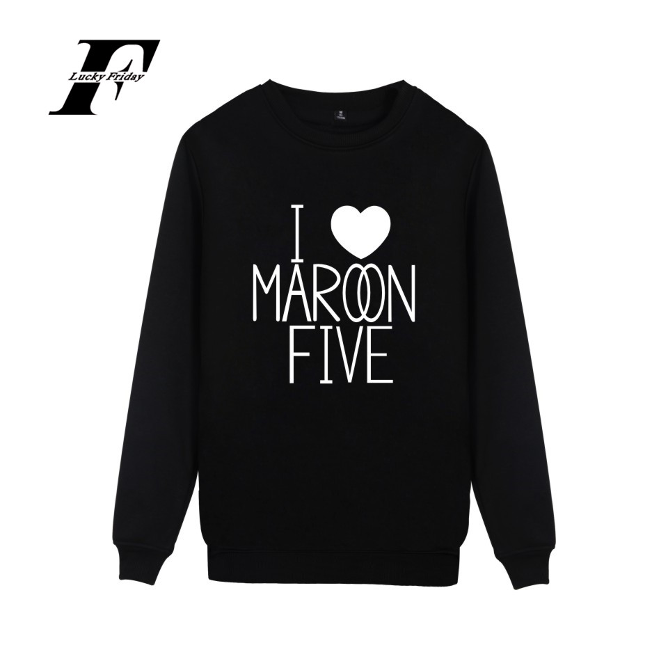LUCKYFRIDAYF Maroon 5 Rock Band Printed Casual Cartoon Hoodies Men Capless Autumn Hoodies Men Sweatshirt Hip Hop Plus Size 4XL