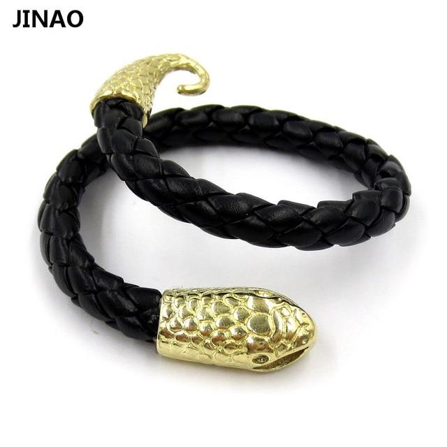 Bracelet cuir serpent homme
