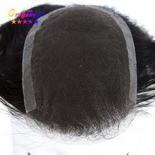 Originea Men's Toupee 6 inch Hair Pieces 100% Remy Human Hair Toupee Replacement System for Men Net Base Size 12x19 cm/14x21 cm(China)