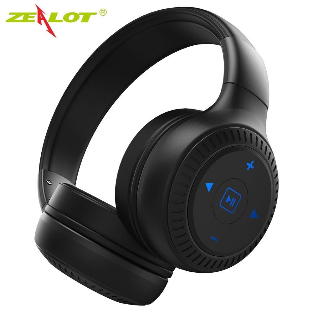 ZEALOT B20 Wireless Bluetooth Headphones Bluetooth 4.1 with HD Sound Bass stereo Earphone Headphones with Mic on-Ear Headset