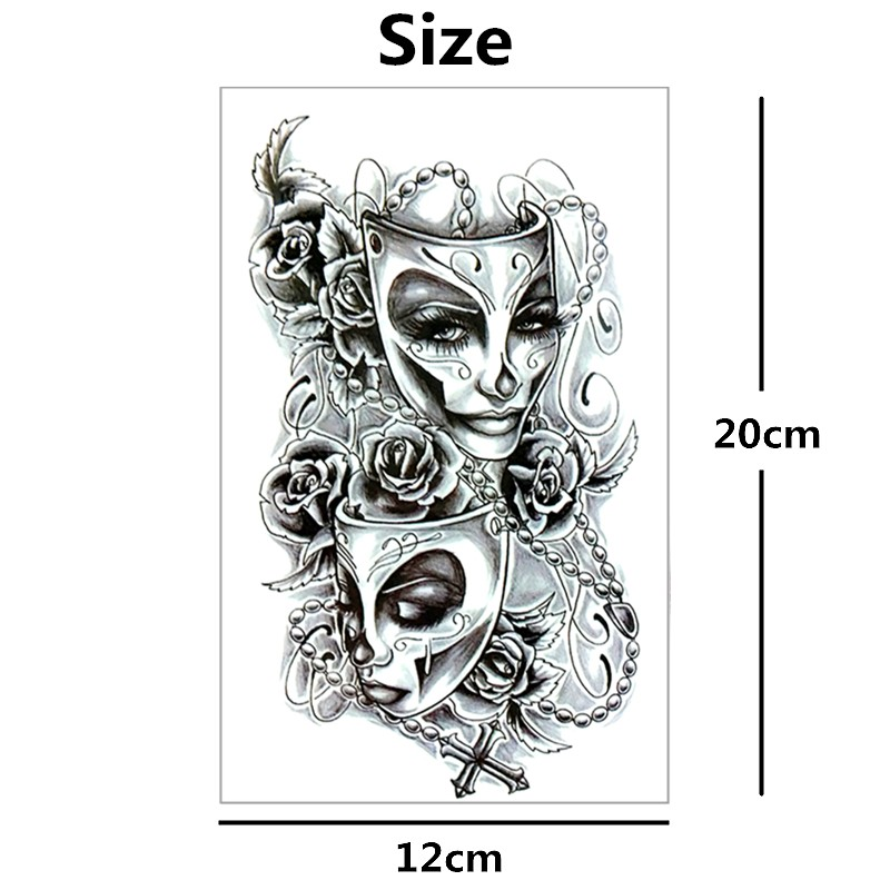 Nu-TATY Phantom of The Opera Temporary Tattoo Body Art Flash Tattoo Sticker 12*cm Waterproof Tatoo Styling Home Decor Sticker 4