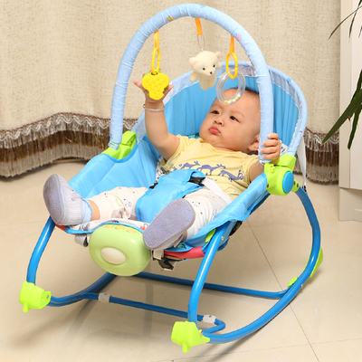A baby cradle rocking chair  portable 2017 new babyruler portable baby cradle newborn light music rocking chair kid game swing