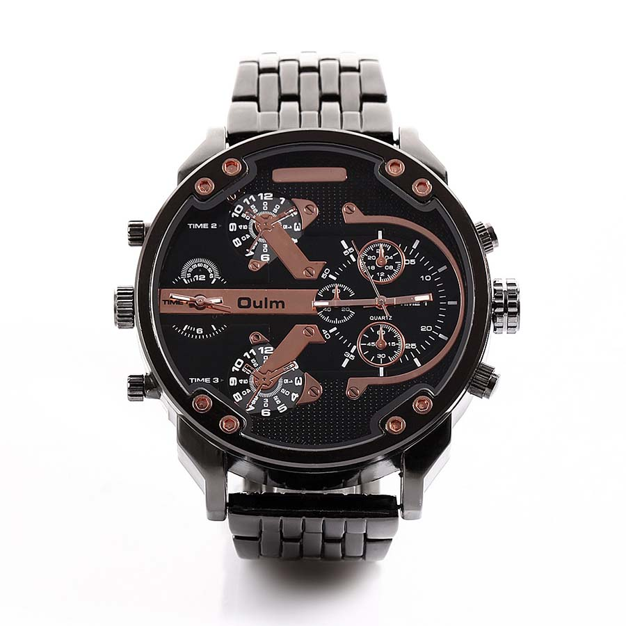 Oulm Brand Big Watches Men Luxury Brand Military Army watch Men's Casual Wristwatches Famous Quartz Male Watch relogio masculino brand oulm 9316b japan movt big face watches men triple time rose gold luxury analog digital casual watch relogio male original