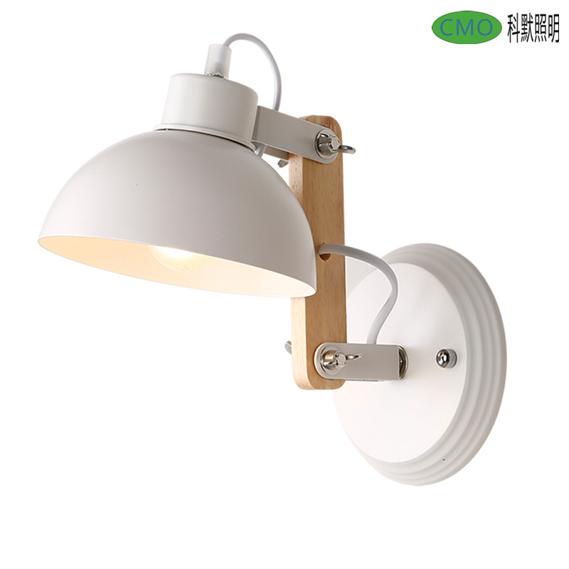 Creative Modern Rustic Industrial Vintage Wood Iron Simple LED Wall Sconce Wall Lamp Loft Stud Foyer Dining Room Decorative Lamp in LED Indoor Wall Lamps from Lights Lighting