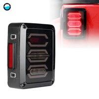 USA/EU Version LED Taillight Rear Back Bumper Light Parking Back up Reverse Brake Lamp for Jeep Wrangler JK with Clear Lens.